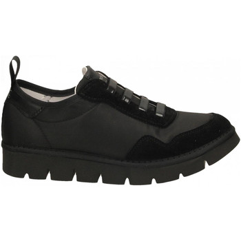 Schoenen Dames Sneakers Panchic LOW CUT NYLON-SUEDE total-black