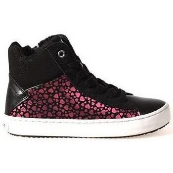 Schoenen Kinderen Lage sneakers Geox Junior meisjes Sneaker Zwart