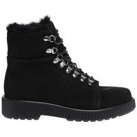 Schoenen Dames Low boots Hip Shoestyle Dames Hip schoenen . 2 BLACK 2652 . Zwart