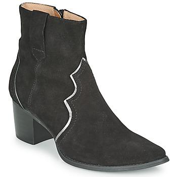 Schoenen Dames Enkellaarzen Karston APLAX Zwart