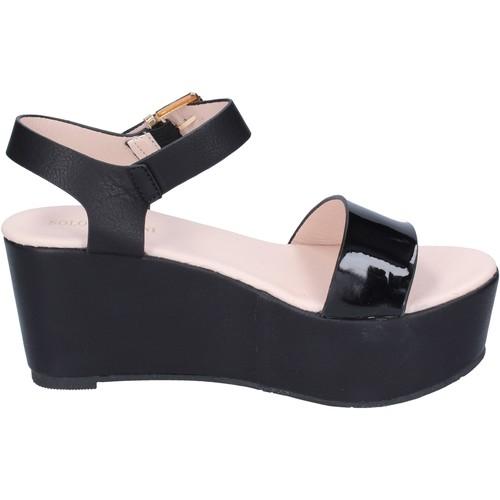 Schoenen Dames Sandalen / Open schoenen Solo Soprani BN772 Zwart