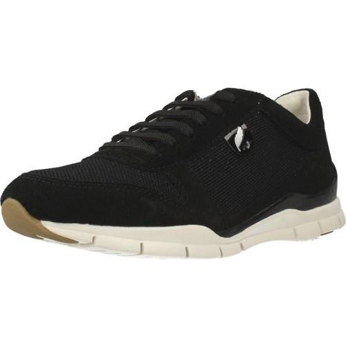 Schoenen Dames Lage sneakers Geox D SUKIE A Zwart