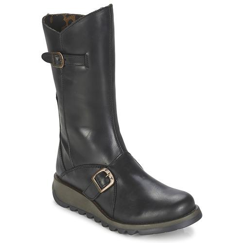 Schoenen Dames Hoge laarzen Fly London MES2 Zwart