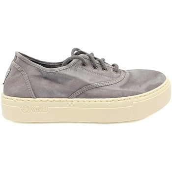 Schoenen Dames Lage sneakers Natural World Basket Platform Grise 623-6112E Grijs