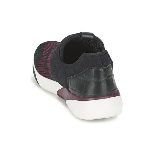Ash Soda Zwart / Bordeau - Gratis Levering Schoenen Lage Sneakers Dames 14800