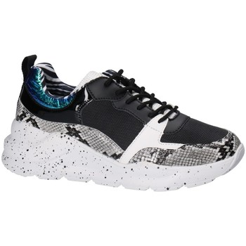 Schoenen Dames Lage sneakers Bullboxer Bull Boxer basket Noir et Blanc 141003F5S Zwart