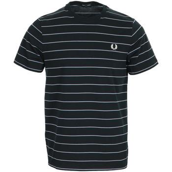 Textiel Heren T-shirts korte mouwen Fred Perry Fine Stripe T-shirt Blauw
