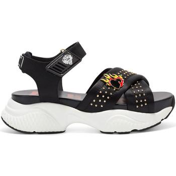 Schoenen Dames Sandalen / Open schoenen Ed Hardy - Flaming sandal black Zwart