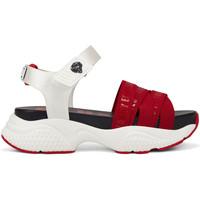 Schoenen Dames Sandalen / Open schoenen Ed Hardy - Overlap sandal red/white Rood