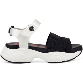 Schoenen Dames Sandalen / Open schoenen Ed Hardy - Overlap sandal black/white Wit