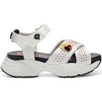 Schoenen Dames Sandalen / Open schoenen Ed Hardy - Flaming sandal white Wit