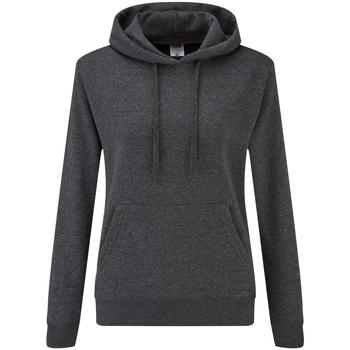 Textiel Dames Sweaters / Sweatshirts Fruit Of The Loom 62038 Donker Heather