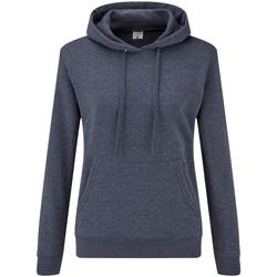 Textiel Dames Sweaters / Sweatshirts Fruit Of The Loom 62038 Heather Marine