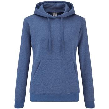 Textiel Dames Sweaters / Sweatshirts Fruit Of The Loom 62038 Heather Royaal Blauw