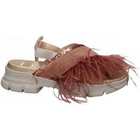 Schoenen Dames Sandalen / Open schoenen L4k3 SANDAL PIUME STRUZZO rosa