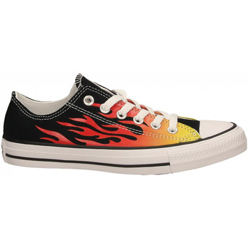 Schoenen Dames Lage sneakers Converse CTAS CANVAS LIFT OX black-enamel-red