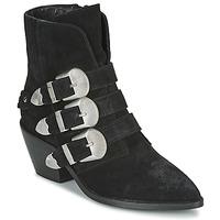 Schoenen Dames Laarzen Pepe jeans WESTERN W BUCKLE Zwart