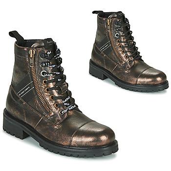 Schoenen Dames Laarzen Pepe jeans MELTING TAPE Brons