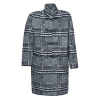 Textiel Dames Mantel jassen Derhy SAISON Grijs / Zwart