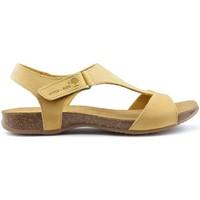 Schoenen Dames Sandalen / Open schoenen Interbios TUSSENTIJDS ANATOMISCHE SANDALEN 4420 YELLOW