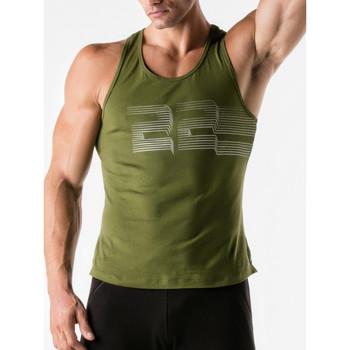 Textiel Heren Mouwloze tops Code 22 3D-gestreepte code22 Tank Top Lavendel
