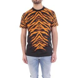 Textiel Heren T-shirts korte mouwen Versace B3GVB7DF-30377 Nero