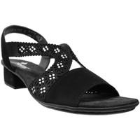 Schoenen Dames Sandalen / Open schoenen Rieker V6216 Zwart