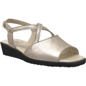 Schoenen Dames Sandalen / Open schoenen Marco Louna Leer platina