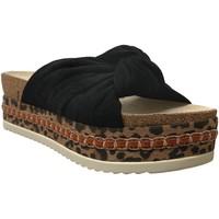 Schoenen Dames Leren slippers Bullboxer 886030f1t Velvet zwart