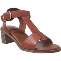 Schoenen Dames Sandalen / Open schoenen Kickers Valmons Bruin / rood leer