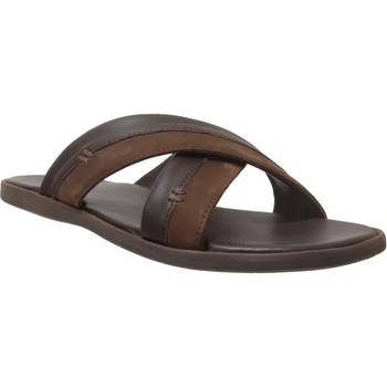 Schoenen Heren Leren slippers Kickers Mooby Bruin leer