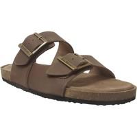 Schoenen Heren Leren slippers Kickers Orano Middenbruin leer