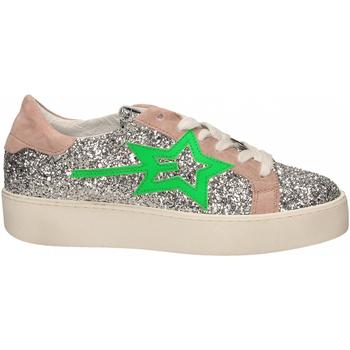 Schoenen Dames Lage sneakers Gio+ + LEILA GLITTER argento-verde