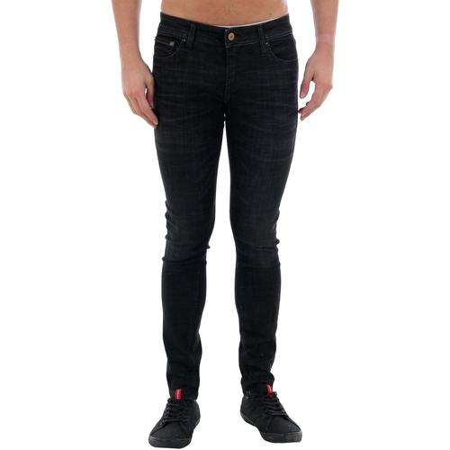 Textiel Heren Skinny jeans Jack & Jones 12159173 JJLIAM JJORIGINAL JJ 179 50SPS LID STS BLACK DENIM Negro