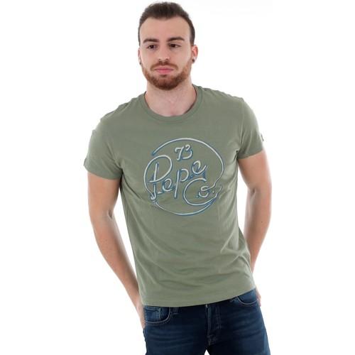 Textiel Heren T-shirts korte mouwen Pepe jeans PM507135 MEIDINGER RO - 771 FOREST Verde