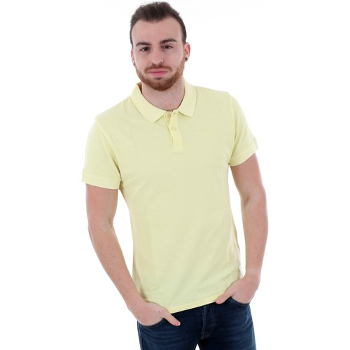 Textiel Heren Polo's korte mouwen Pepe jeans PM541132 VINCENT GD - 020 LIME YELLOW Amarillo