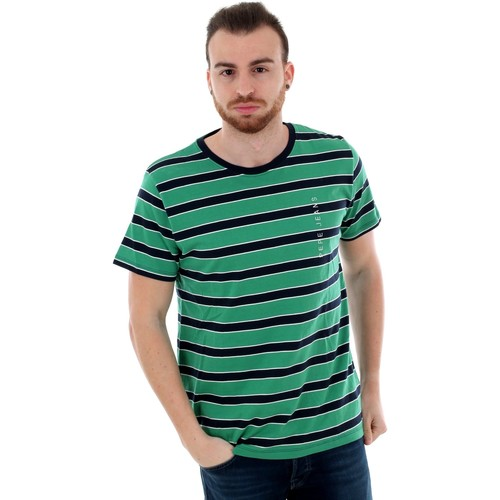 Textiel Heren T-shirts korte mouwen Pepe jeans PM506088 HUBER - 671 WOODS Verde