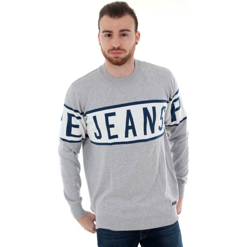 Textiel Heren Truien Pepe jeans PM701856 DOWNING - 933 GREY MARL Gris claro