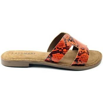 Schoenen Dames Leren slippers Lazamani DAMES slipper   75.748 oranje oranje