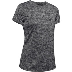 Textiel Dames T-shirts korte mouwen Under Armour Twist Tech SS Tee Women Schwarz