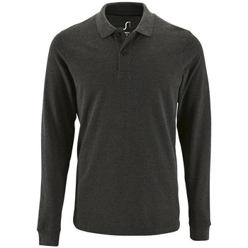 Textiel Heren Polo's lange mouwen Sols PERFECT LSL COLORS MEN Gris