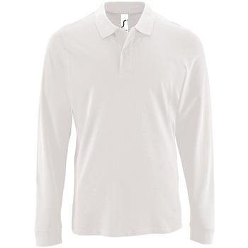Textiel Heren Polo's lange mouwen Sols PERFECT LSL COLORS MEN Blanco