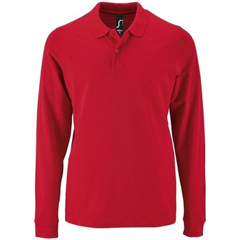 Textiel Heren Polo's lange mouwen Sols PERFECT LSL COLORS MEN Rojo