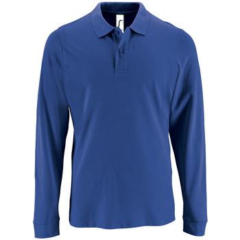 Textiel Heren Polo's lange mouwen Sols PERFECT LSL COLORS MEN Azul