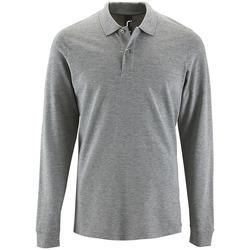Textiel Heren Polo's lange mouwen Sols PERFECT LSL COLORS MEN Gris