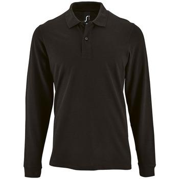Textiel Heren Polo's lange mouwen Sols PERFECT LSL COLORS MEN Negro