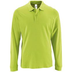 Textiel Heren Polo's lange mouwen Sols PERFECT LSL COLORS MEN Verde