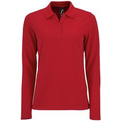 Textiel Dames Polo's lange mouwen Sols PERFECT LSL COLORS WOMEN Rojo