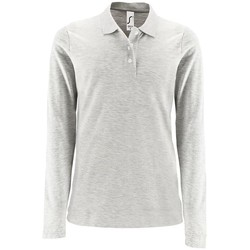 Textiel Dames Polo's lange mouwen Sols PERFECT LSL COLORS WOMEN Gris