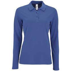 Textiel Dames Polo's lange mouwen Sols PERFECT LSL COLORS WOMEN Azul